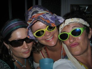 Happy hippy chicks out on the town